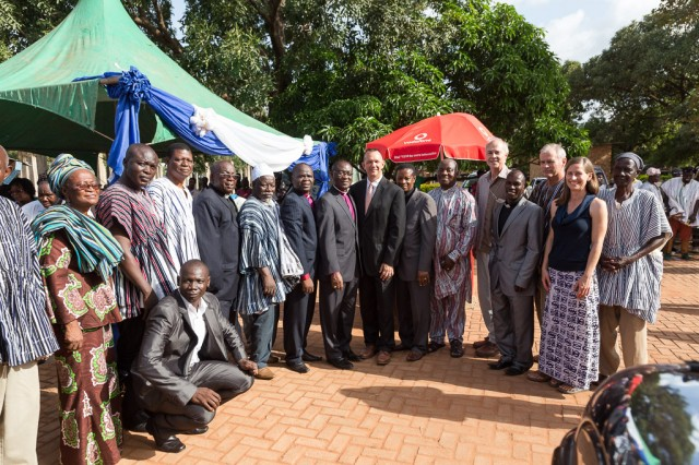 Group photo of IMB, GBC, and BMC leadership after the ceremony